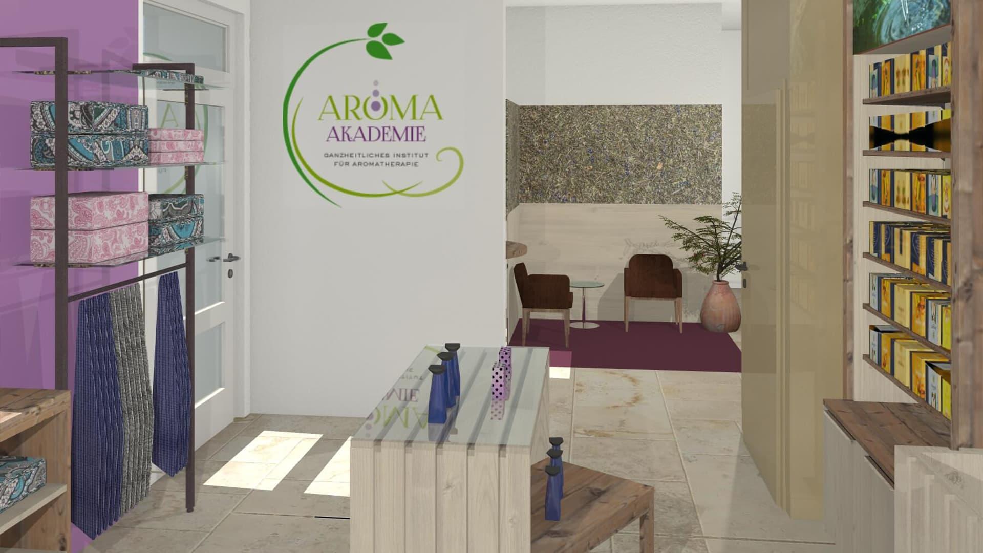 Ladenbau Kosmetik Aroma Akademie
