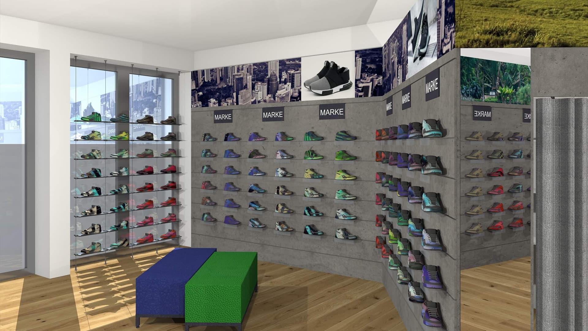 Ladenbau Schuhgeschäft Deutschland